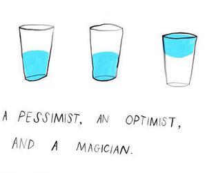optimist, pessimist, and magician image
