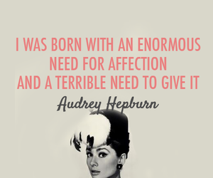 quotes, audrey hepburn, and affection image