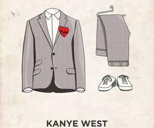 kanye west, fashion, and music image
