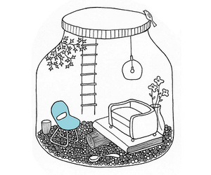 art, jar, and home image