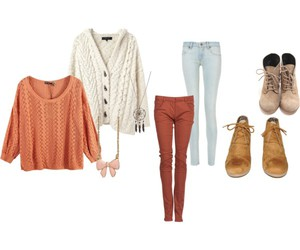 booties, cardigan, and cold image