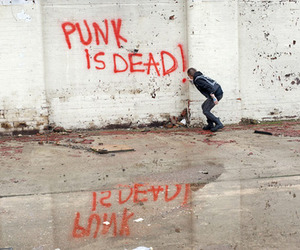 punk, dead, and punk is dead image