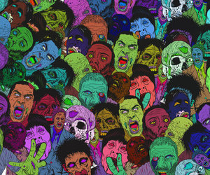 zombies, zombie, and art image
