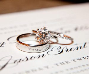 rings, wedding, and ring image
