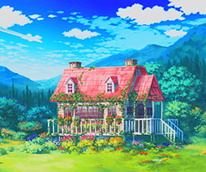 clouds, house, and nature image