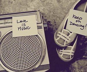 music, love, and dance image