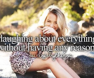 laugh, laughing, and justgirlythings image