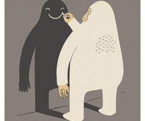 art, Darkness, and gorilla image