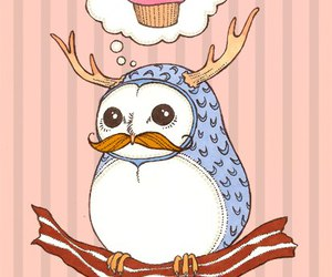 cupcake, picture, and mustache image
