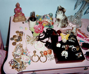 accessories, cat, and earrings image