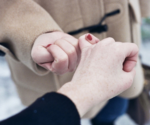 hands, promise, and couple image