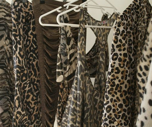 fashion, clothes, and leopard image