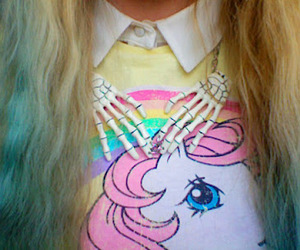 girl, hair, and unicorn image