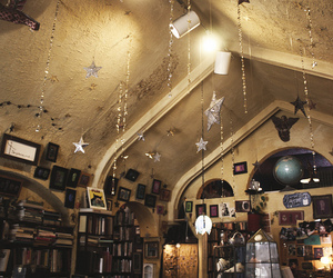 stars, books, and light image