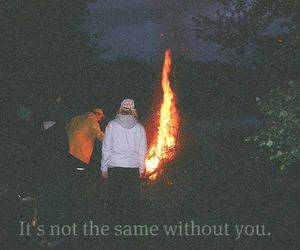 fire and text image