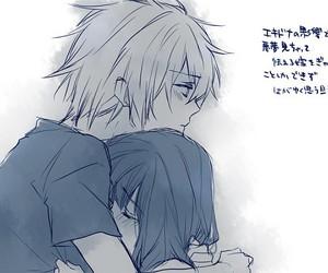 anime, anime girl, and hug image
