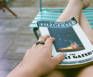 book, vintage, and the great gatsby image