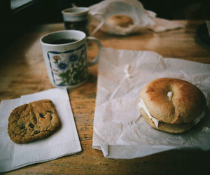 food, breakfast, and vintage image