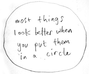 circle, text, and quote image
