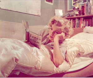 book, Marilyn Monroe, and leaves or grass image