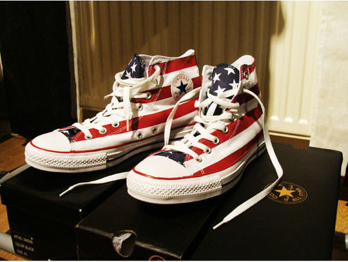 america, chuck taylor, and converse image