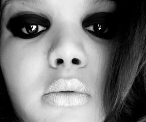 black and white, glitter, and photography image