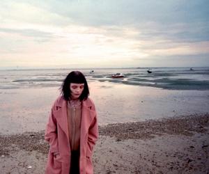girl, pink, and sad image