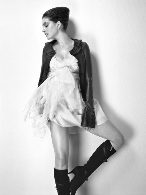 black and white, boots, and dress image