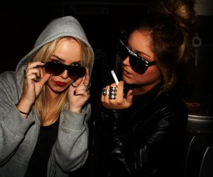 blondes, brunette, and cigarette image