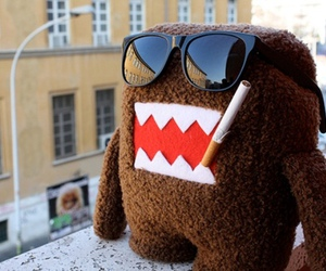 domo, cigarette, and sunglasses image