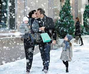 family, love, and snow image