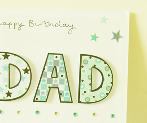 birthday, card, and dad image