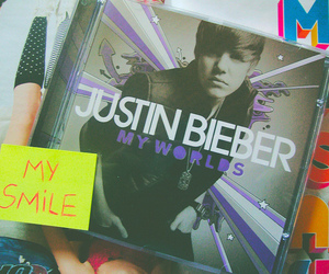 justin bieber, cd, and my worlds image