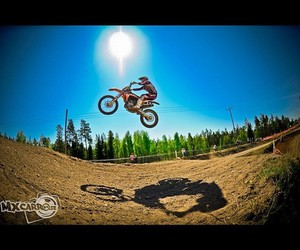 blue sky, moto, and motocross image
