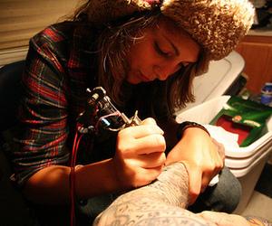 girl, tattoo, and tattoartist image