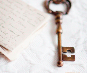 key, note, and Letter image