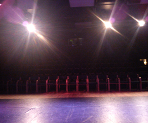 empty, lights, and stage image