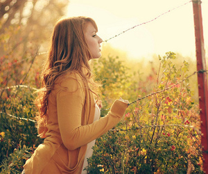 fence, girl, and nature image
