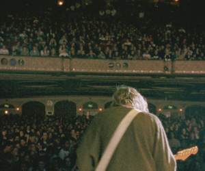nirvana, kurt cobain, and concert image
