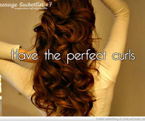 beautiful, curls, and quote image