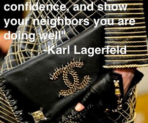 bags, karl lagerfeld, and quote image