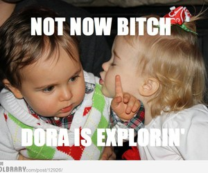 funny, baby, and Dora image