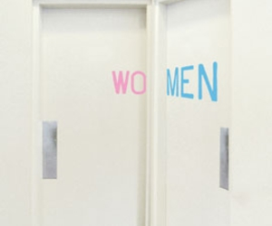 funny, man, and restroom image