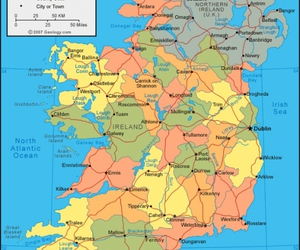 ireland and map image