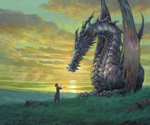dragon, anime, and tales from earthsea image