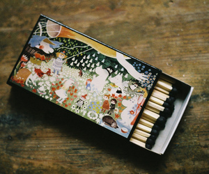 vintage, match, and art image