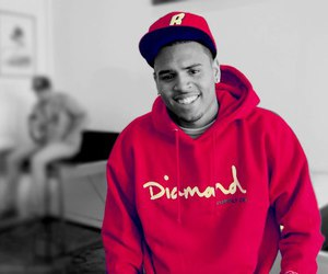 chris brown, breezy, and red image