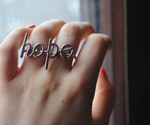 hope, ring, and hand image