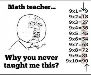 math, funny, and teacher image