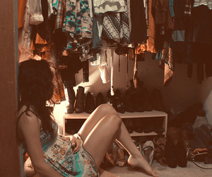 girl, closet, and clothes image